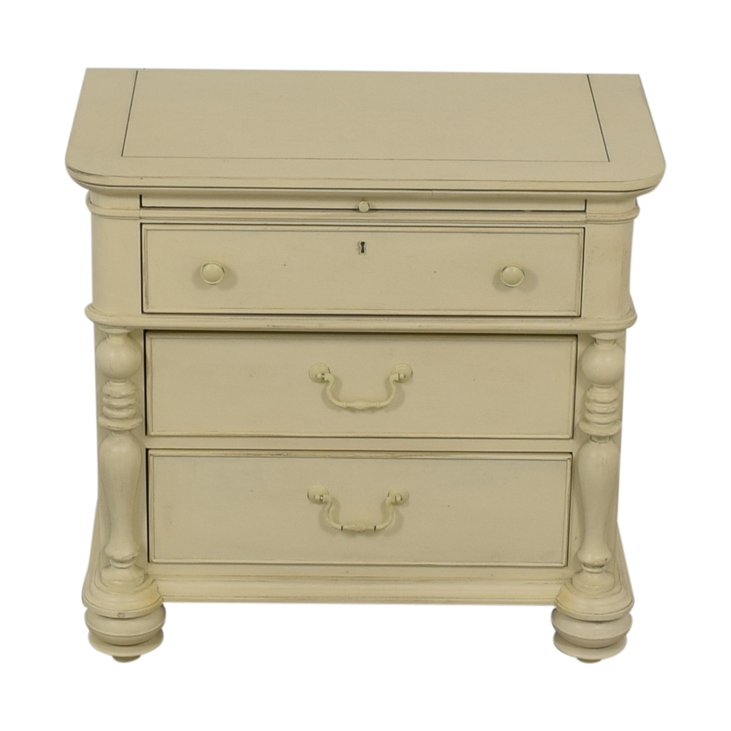 Paula Deen Home Paula Deen Home White Three-Drawer Side Table with Tray coupon