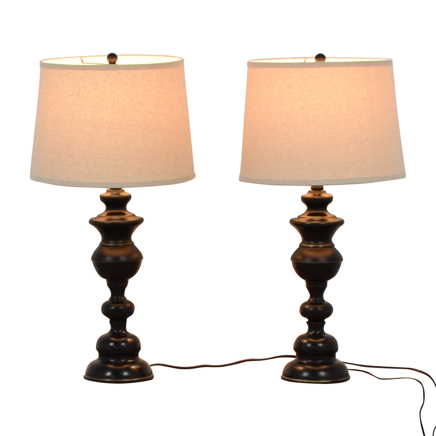 Vintage Black Base Table Lamps used