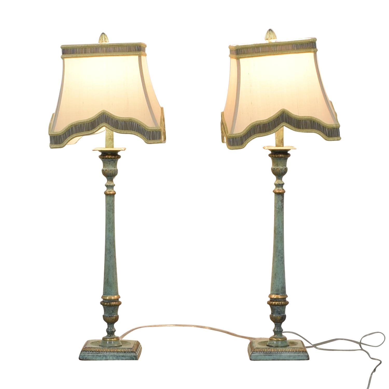 John-Richard John-Richard Antique Candlestick Lamps used