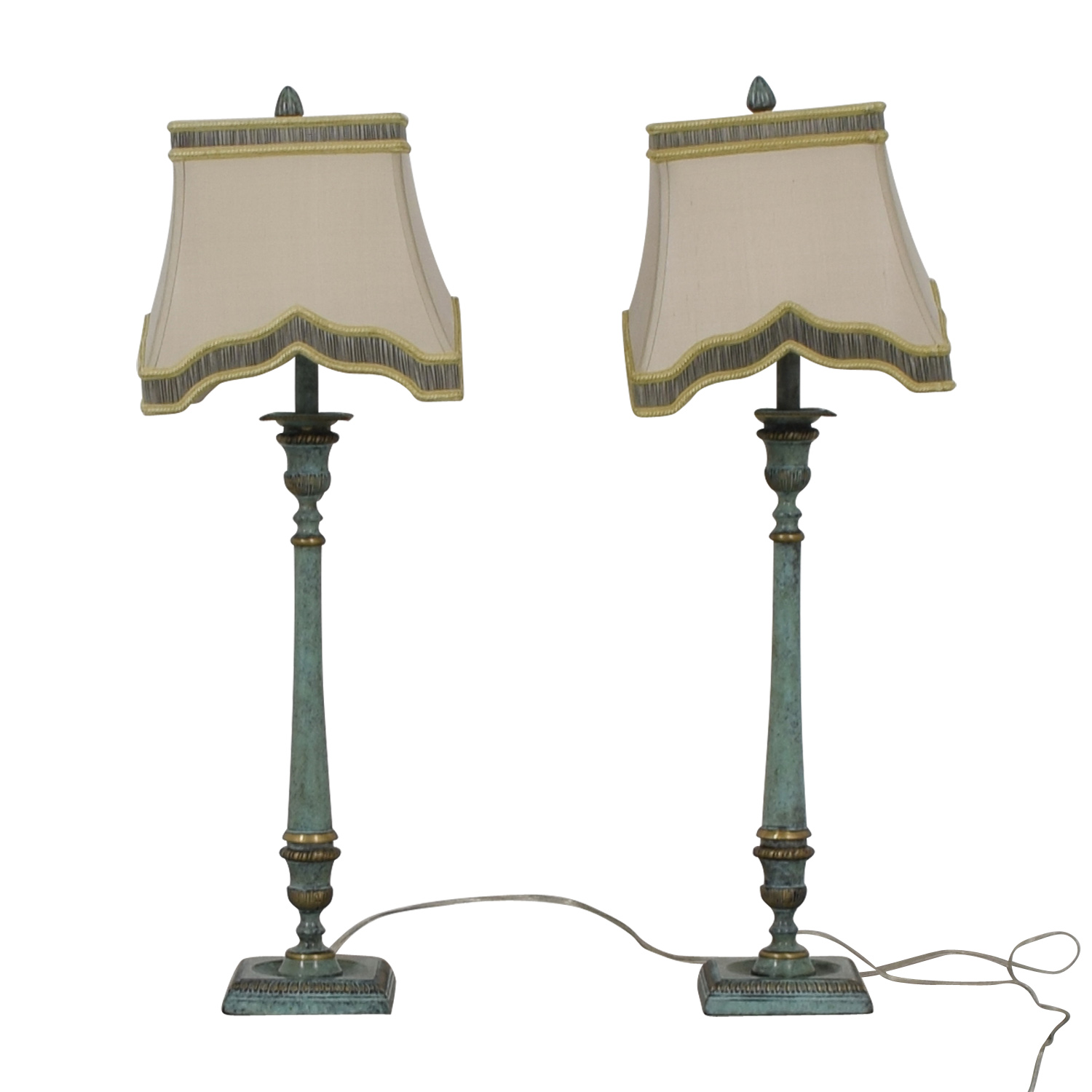 John-Richard John-Richard Antique Candlestick Lamps