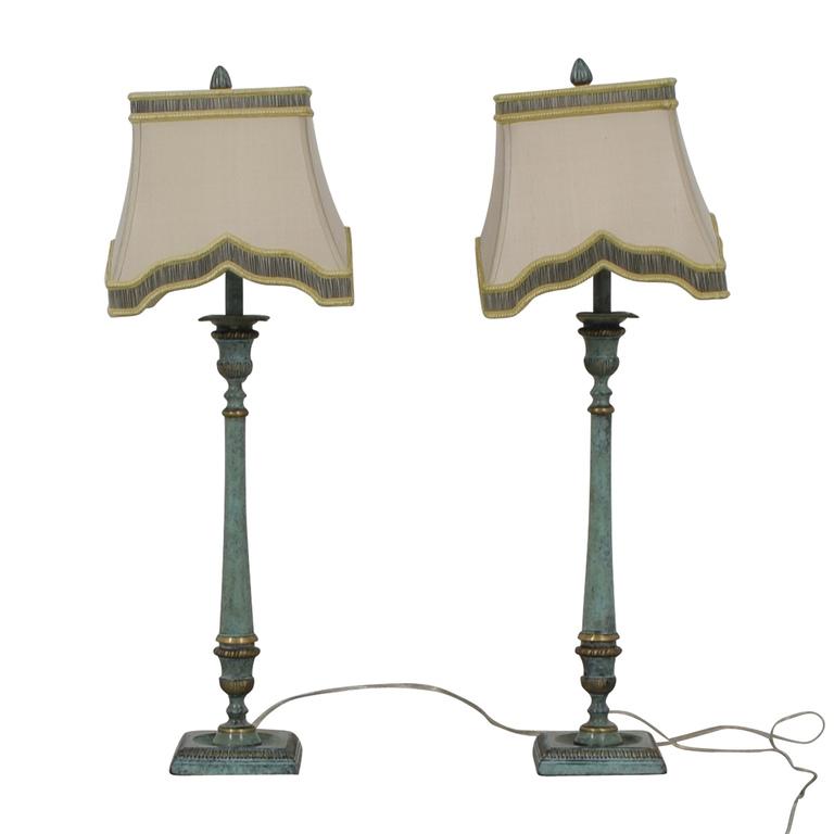 John-Richard Antique Candlestick Lamps sale