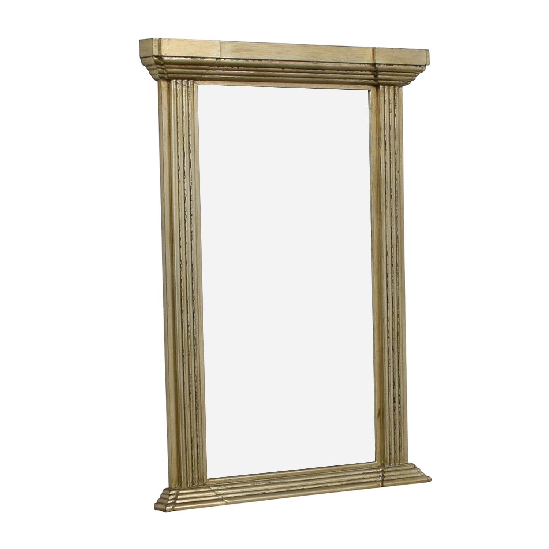 shop Carolyn Kinder Antiqued Gold Pillar Mirror Carolyn Kinder Decor