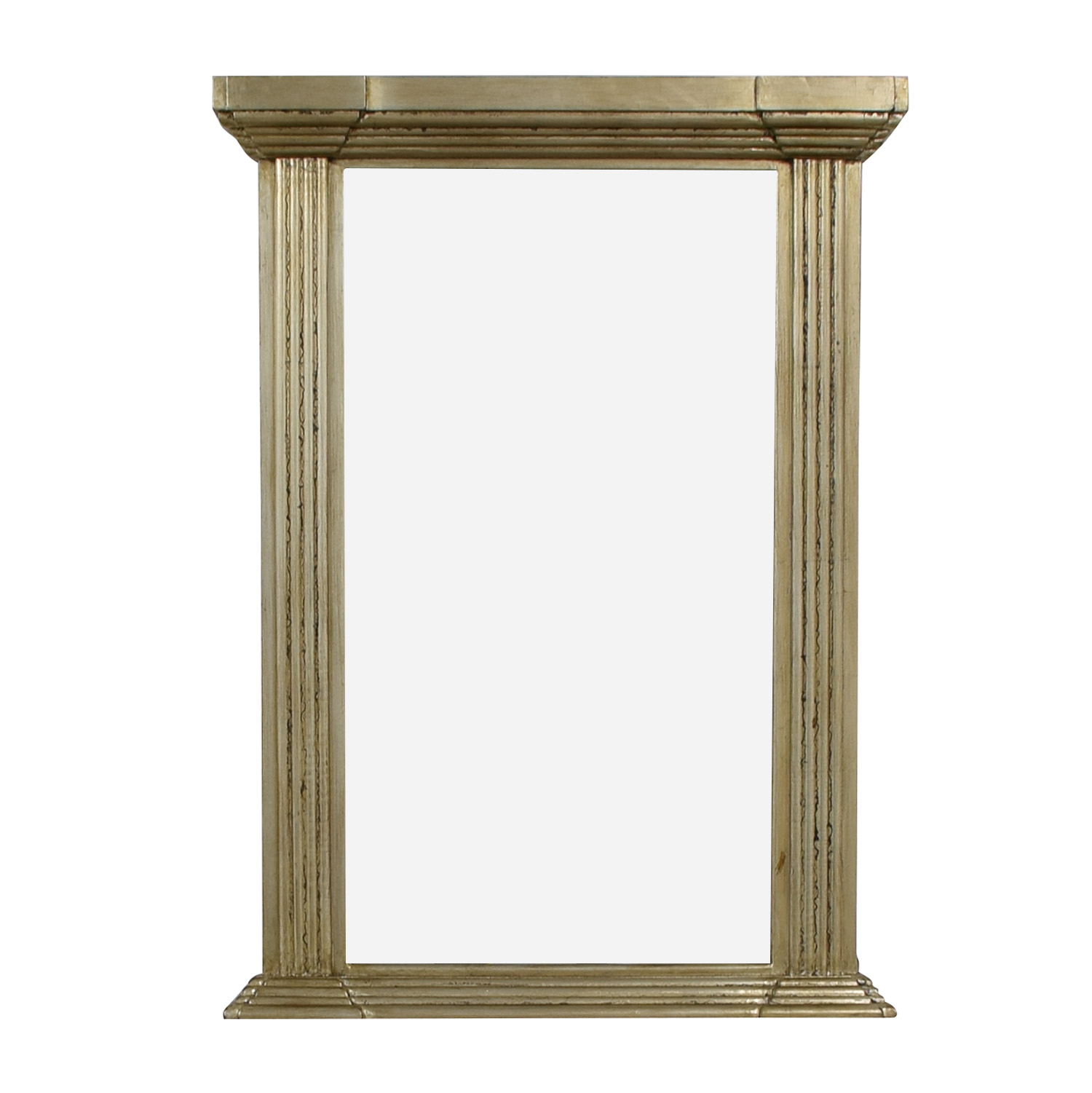 shop Carolyn Kinder Antiqued Gold Pillar Mirror Carolyn Kinder