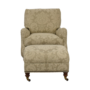 Vanguard Furniture Vanguard Beige Upholstered Accent Chair with Ottoman price
