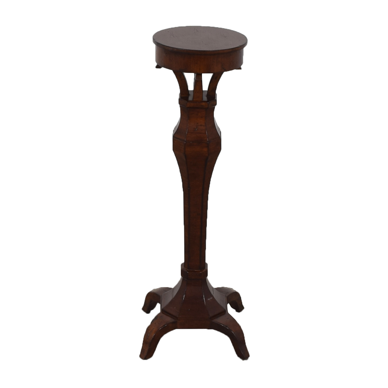 Carved Wood Display Pedestal for sale