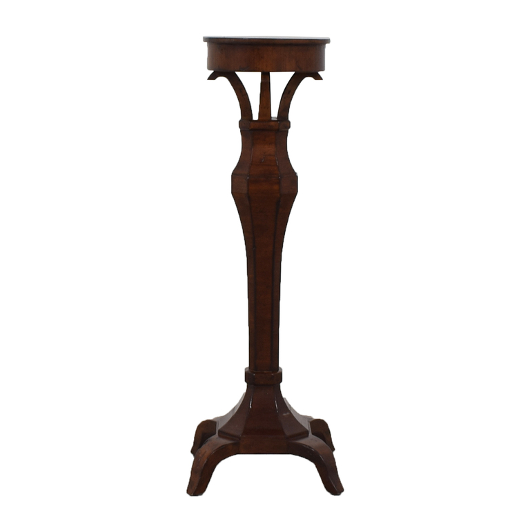 Carved Wood Display Pedestal Decor