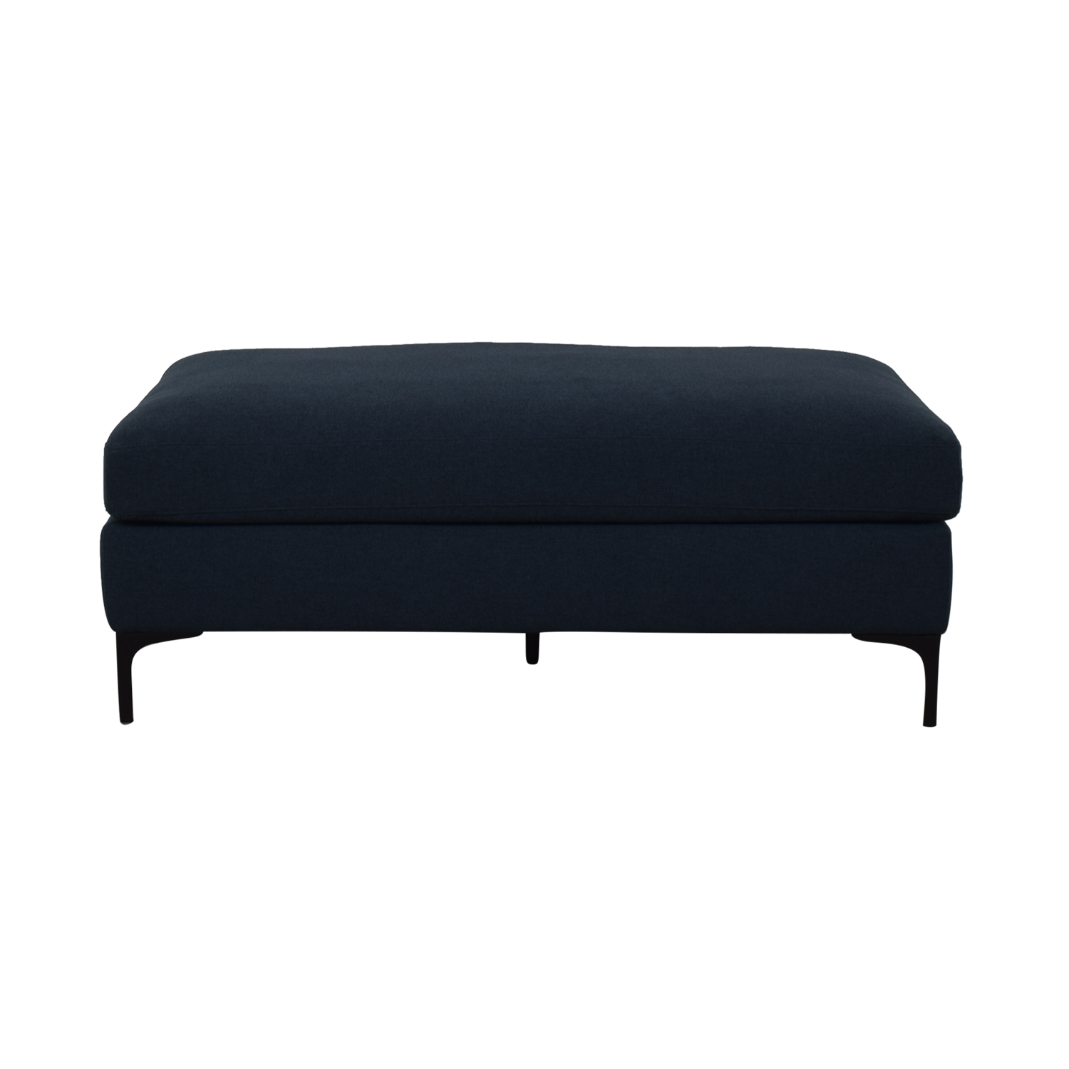 shop Sloan Monochromatic Plush Grey Ottoman  Ottomans