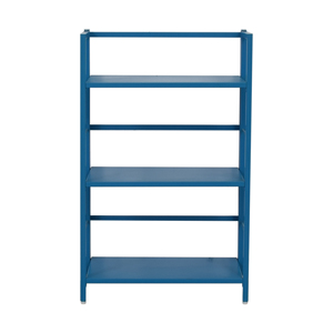 Crate & Barrel Crate & Barrel Pop Up Blue Folding Three Shelf Bookcase price