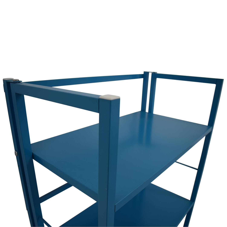 Blue Metal Bookshelf on sale