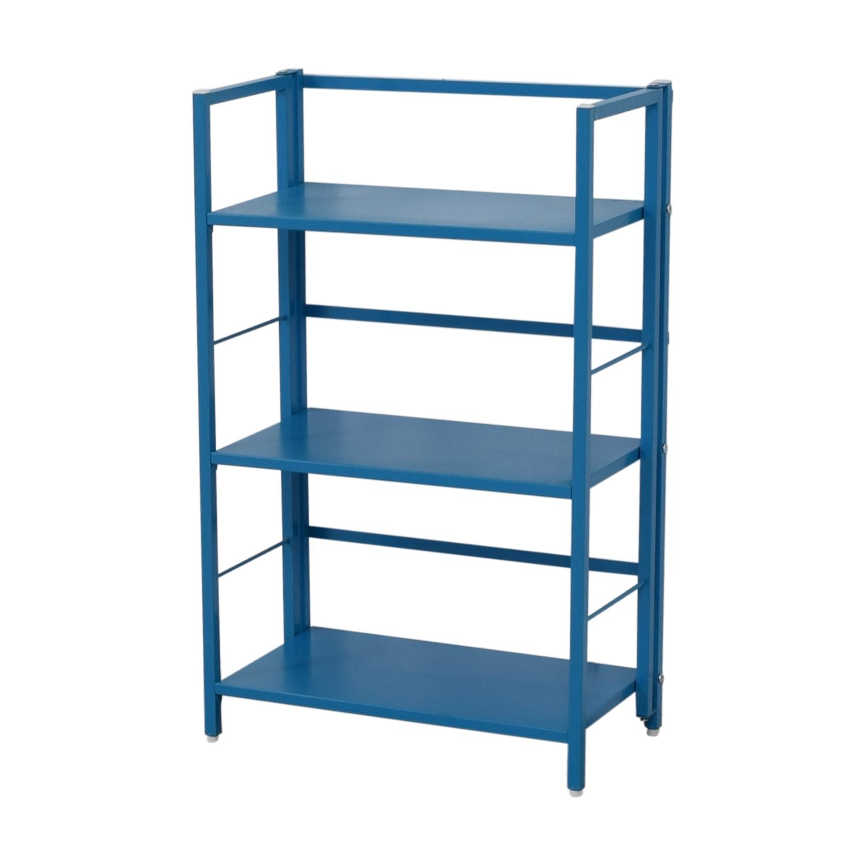 buy Blue Metal Bookshelf