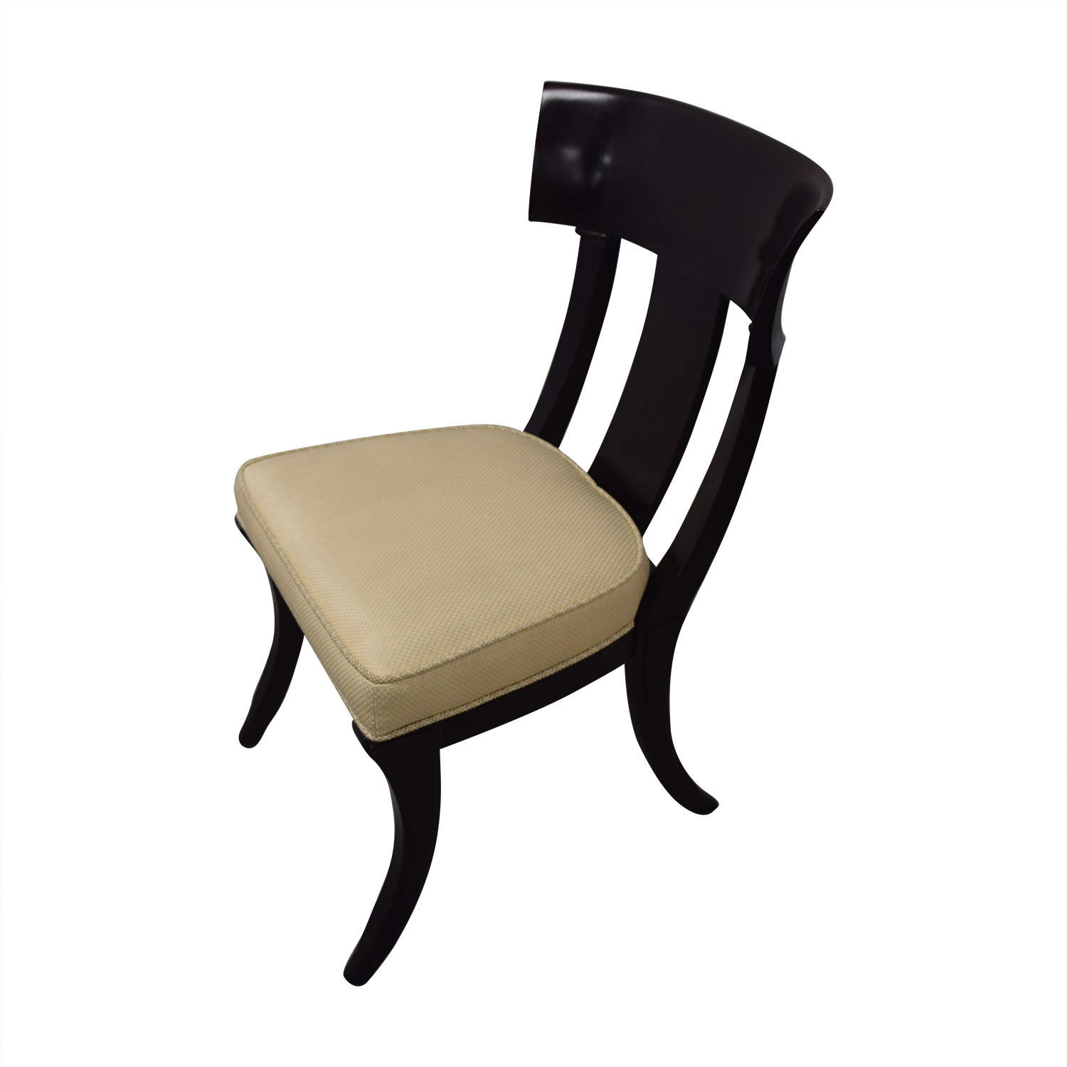 shop Henredon Black with Beige Upholstery Dining Chairs Henredon Furniture Dining Chairs