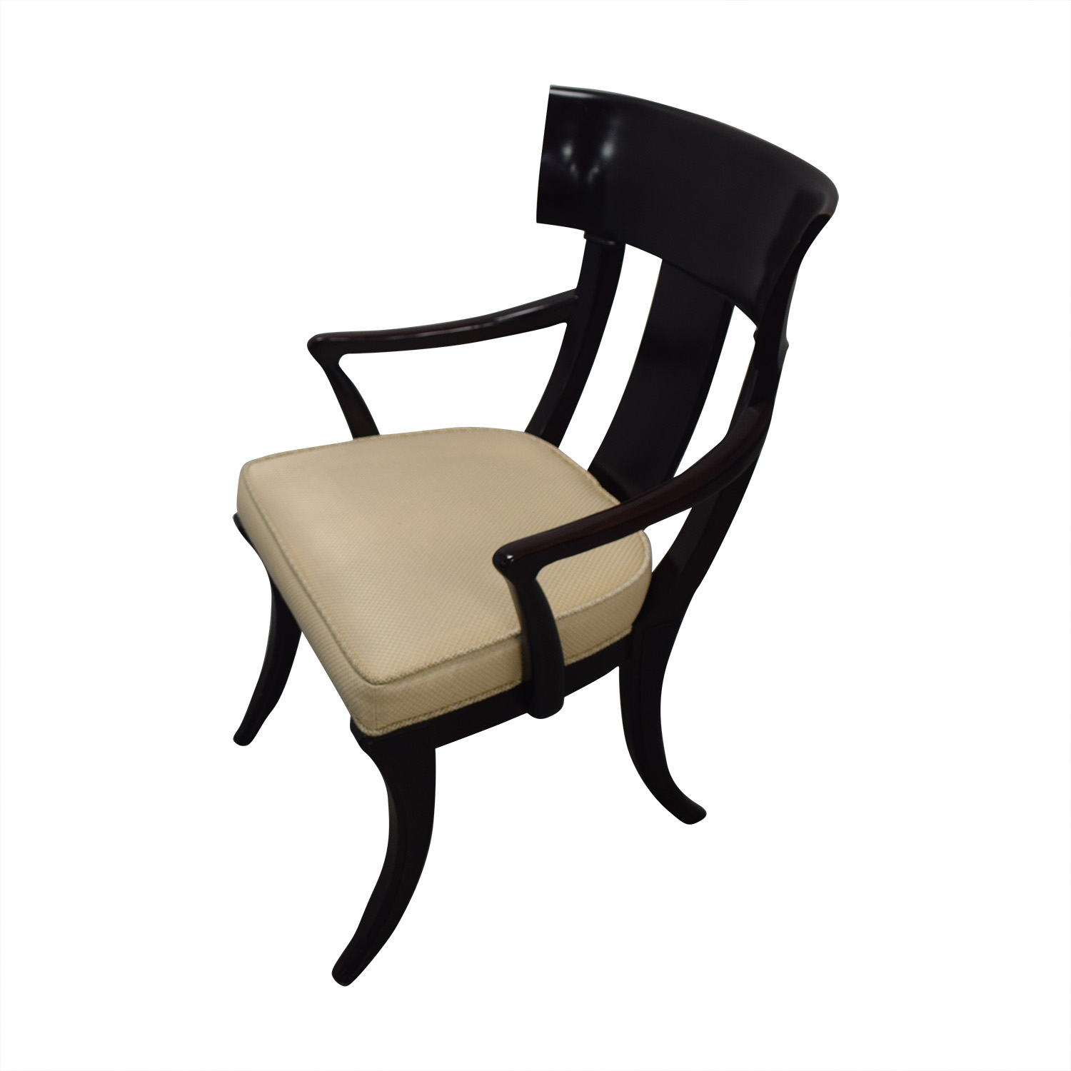 shop Henredon Black with Beige Upholstery Dining Chairs Henredon Furniture Chairs