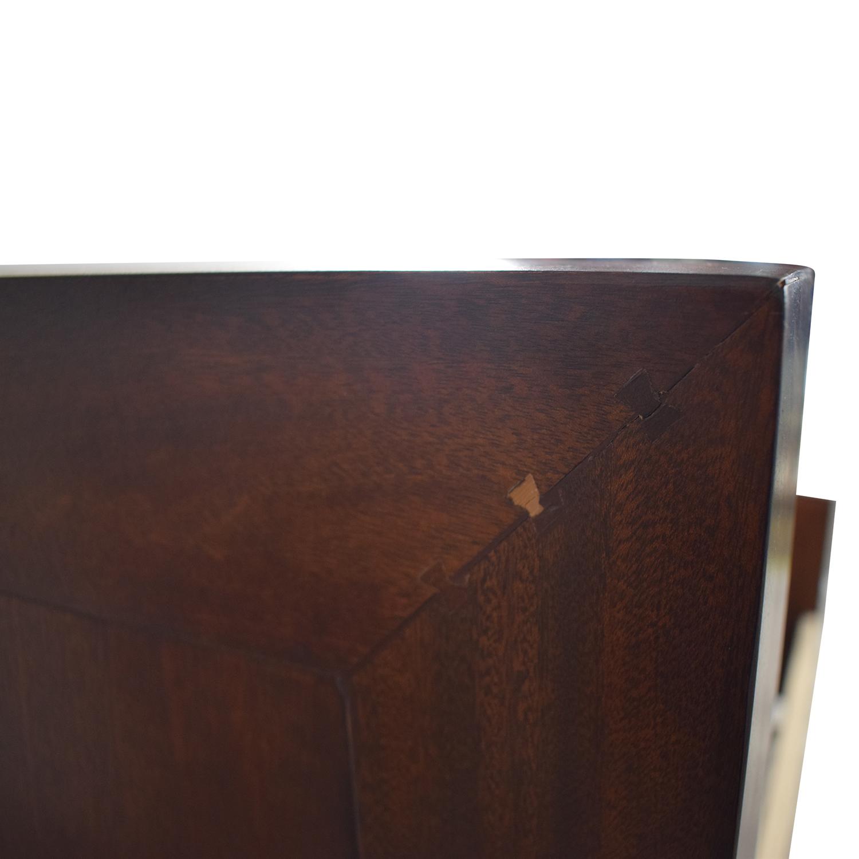 buy Ralph Lauren Home Beige and Wood Queen Bed Frame Ralph Lauren Home Beds