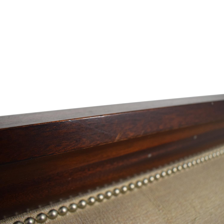 buy Ralph Lauren Home Ralph Lauren Home Beige and Wood Queen Bed Frame online