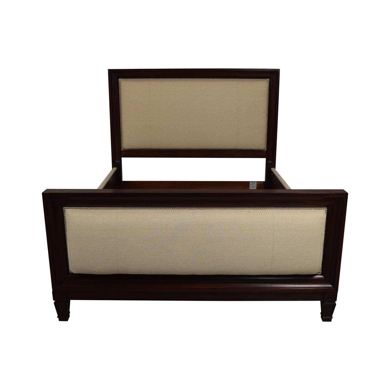 Ralph Lauren Home Ralph Lauren Home Beige and Wood Queen Bed Frame nj