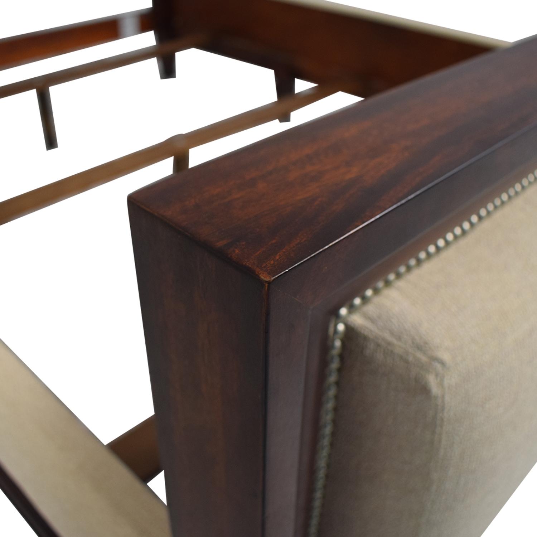 buy Ralph Lauren Home Beige and Wood Queen Bed Frame Ralph Lauren Home Bed Frames