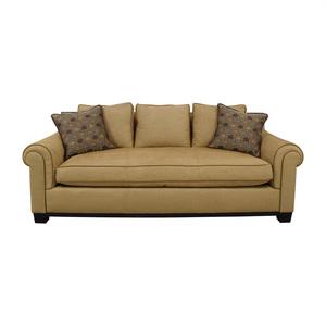 shop Custom Tan Single Cushion Sofa