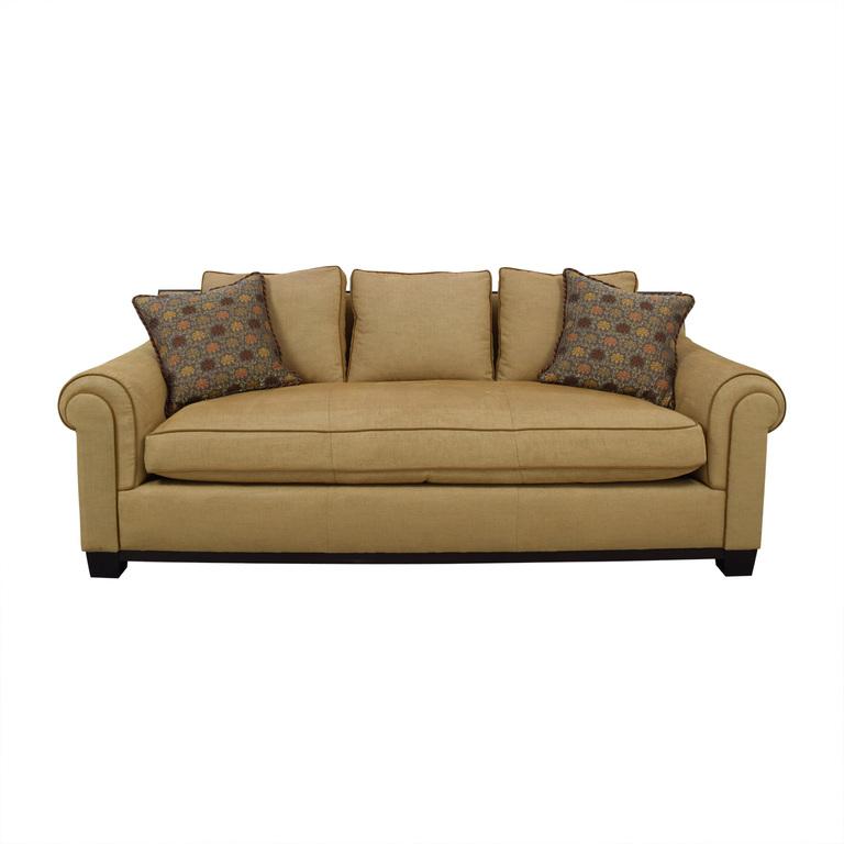 Custom Tan Single Cushion Sofa / Sofas
