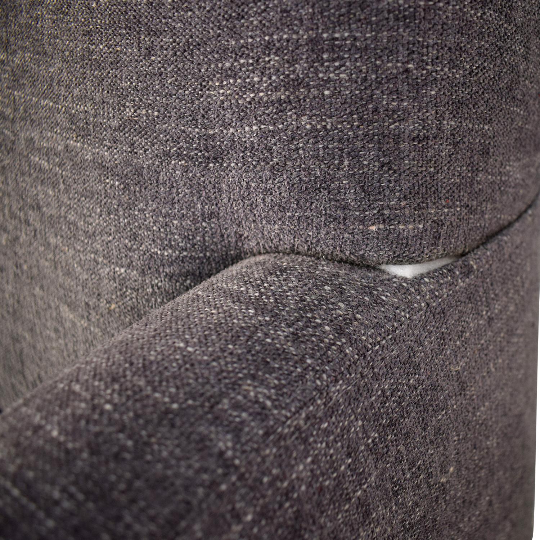 shop Crate & Barrel Crate & Barrel Reston Grey Queen Trundle Sleeper Sofabed online