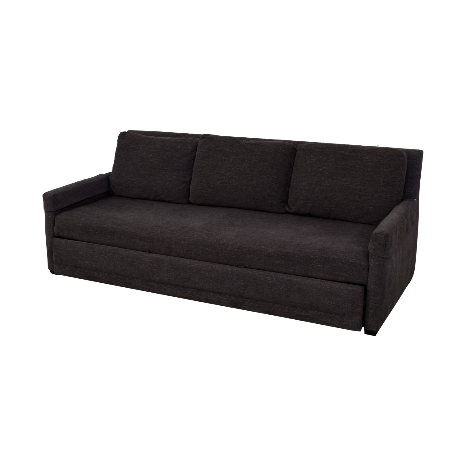 81 Off Crate Barrel Reston Grey Queen Trundle Sleeper Sofabed Sofas