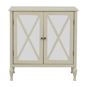 Joss & Main Joss & Main White Mirrored Two Door Chest price