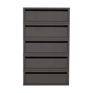 shop CB2 Slice Grey Floating Shelves CB2