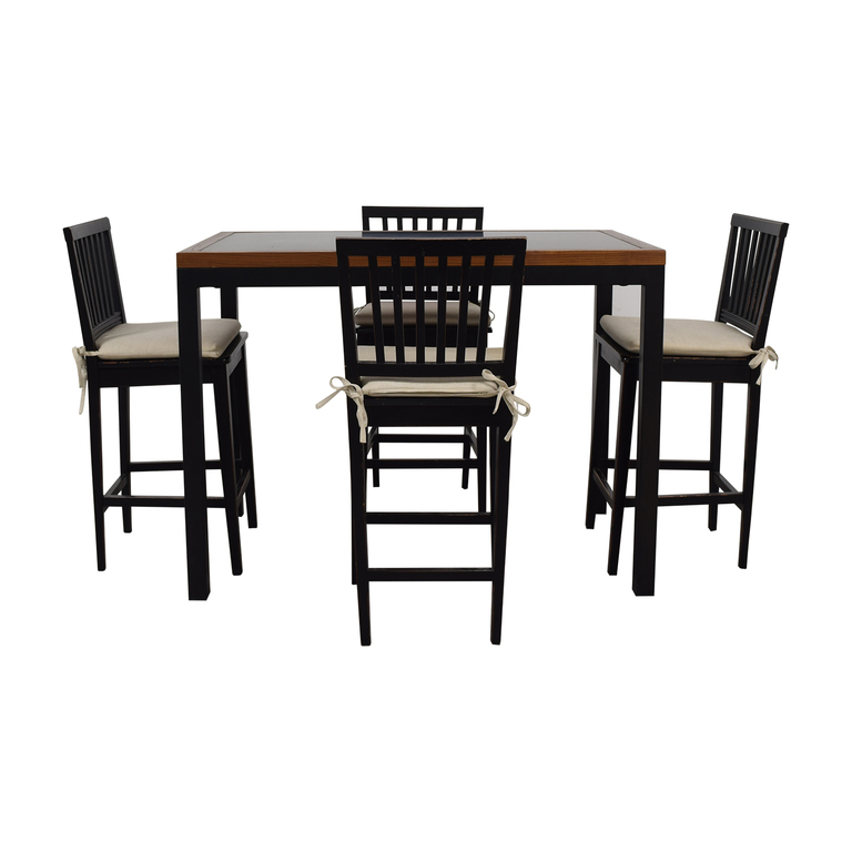 Crate & Barrel Crate & Barrel Parsons Counter High Dining Set used
