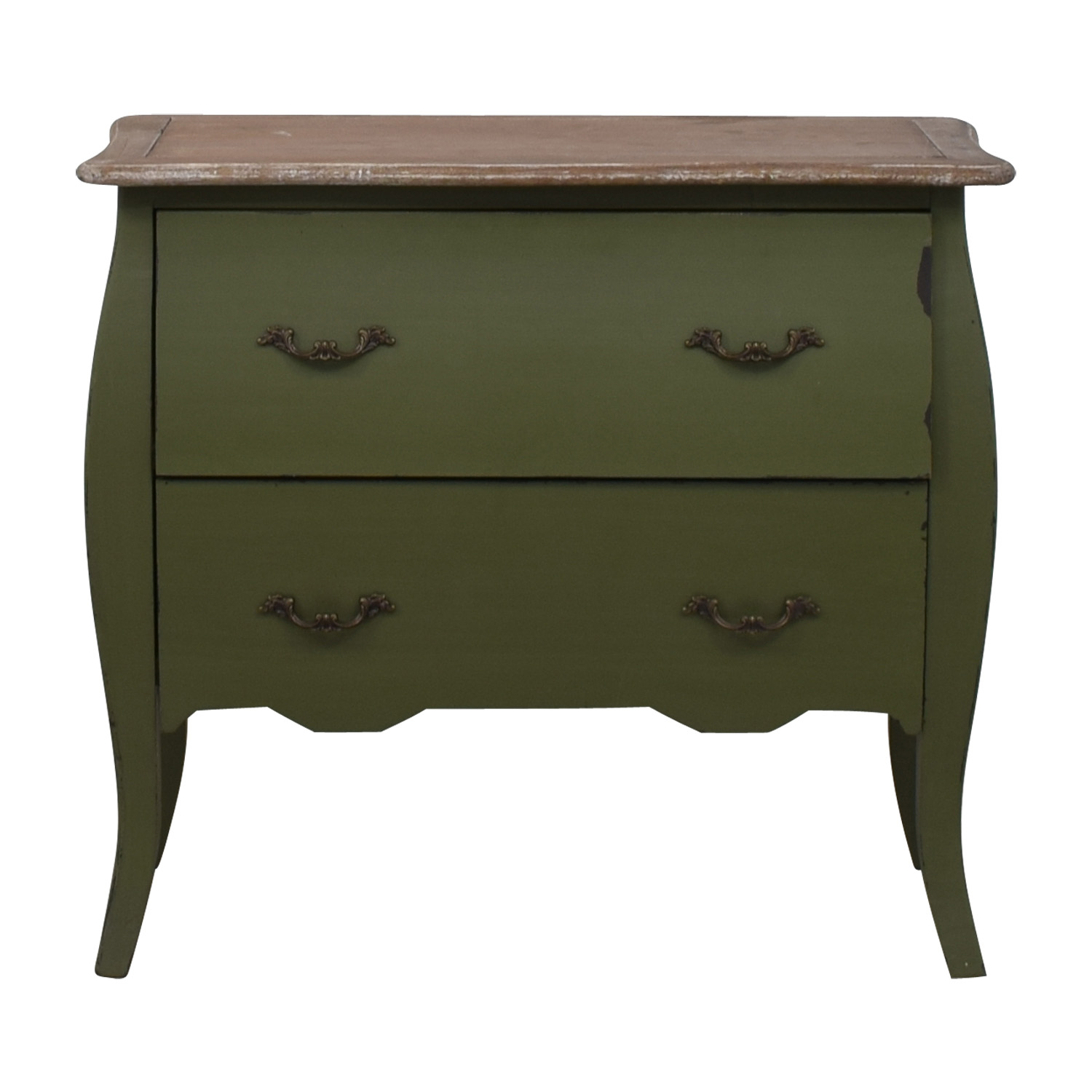 54% OFF   HomeGoods HomeGoods Green Two Drawer Accent Table / Tables