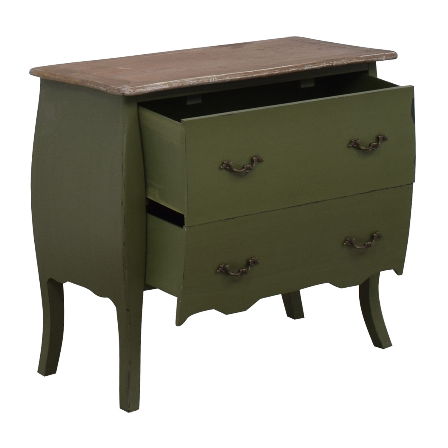 - 54% OFF - HomeGoods HomeGoods Green Two-Drawer Accent Table / Tables