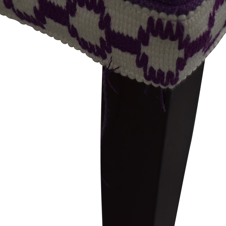 HomeGoods Home Goods Purple Tufted Bench nj