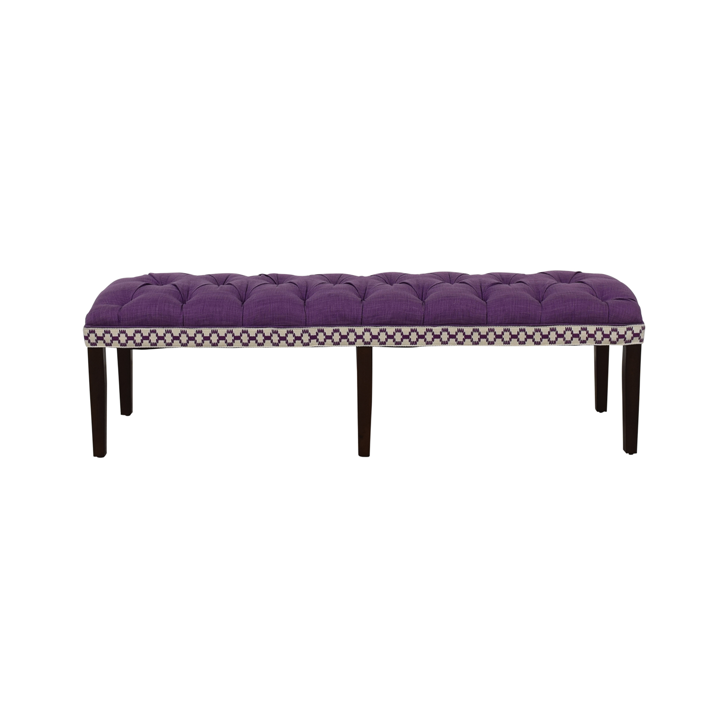 Home Goods Purple Tufted Bench Home Goods