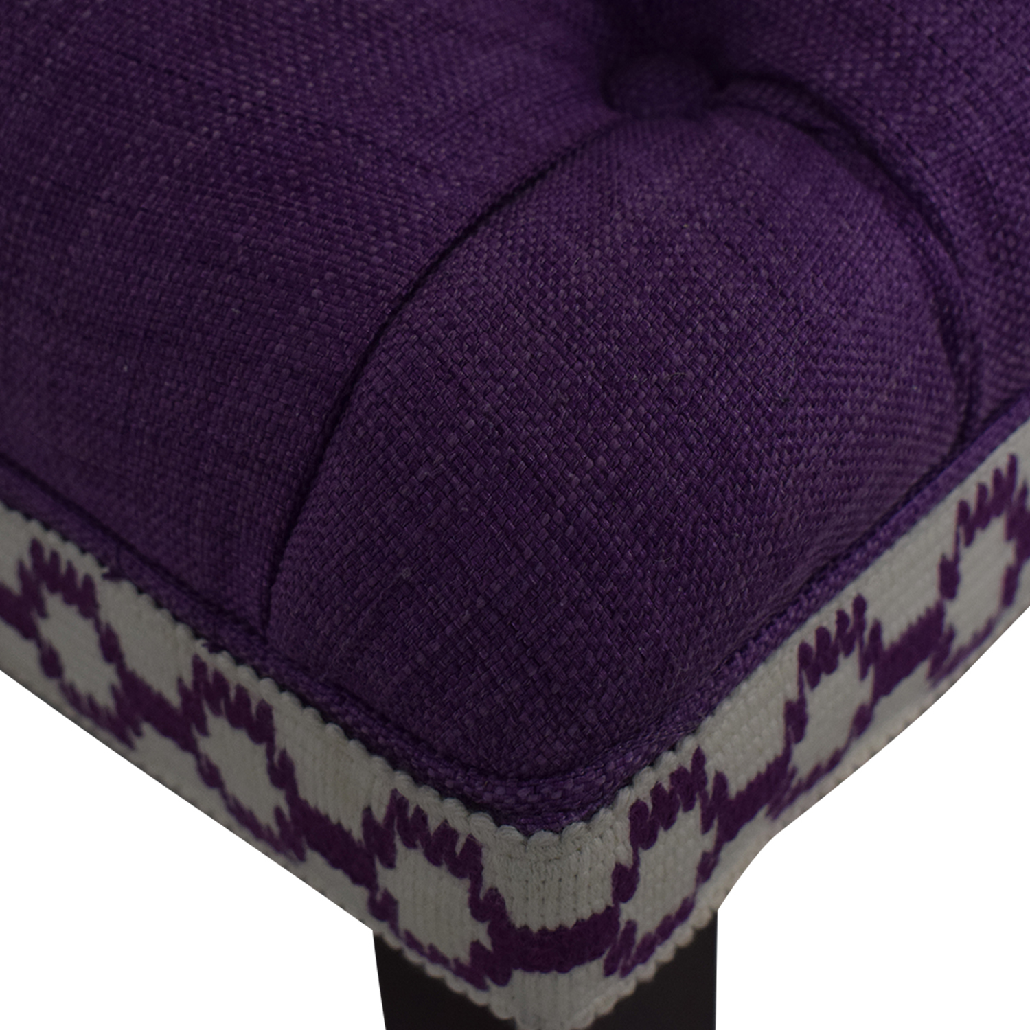 Home Goods Home Goods Purple Tufted Bench nj