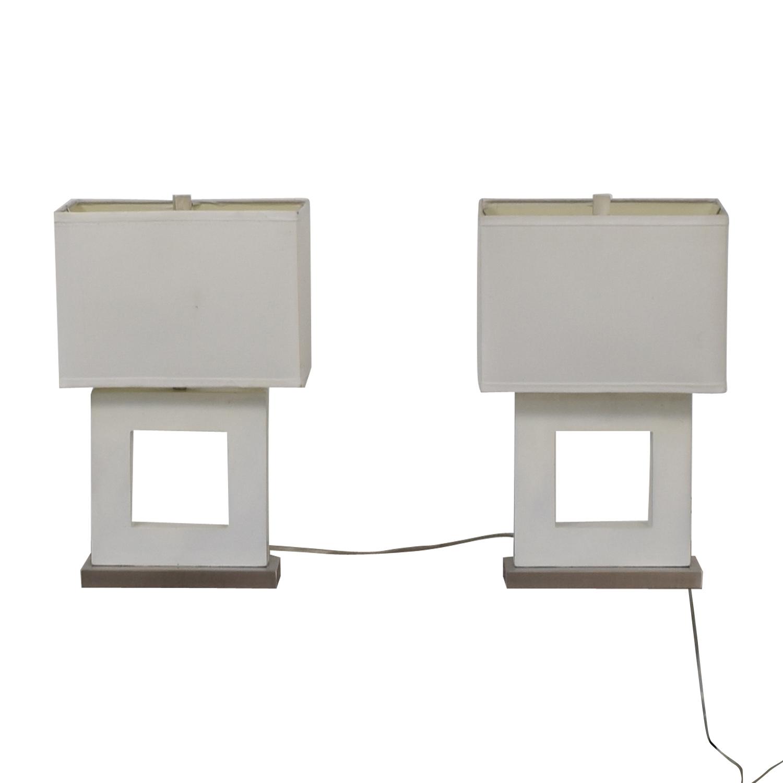 shop White Desk Lamps  Lamps