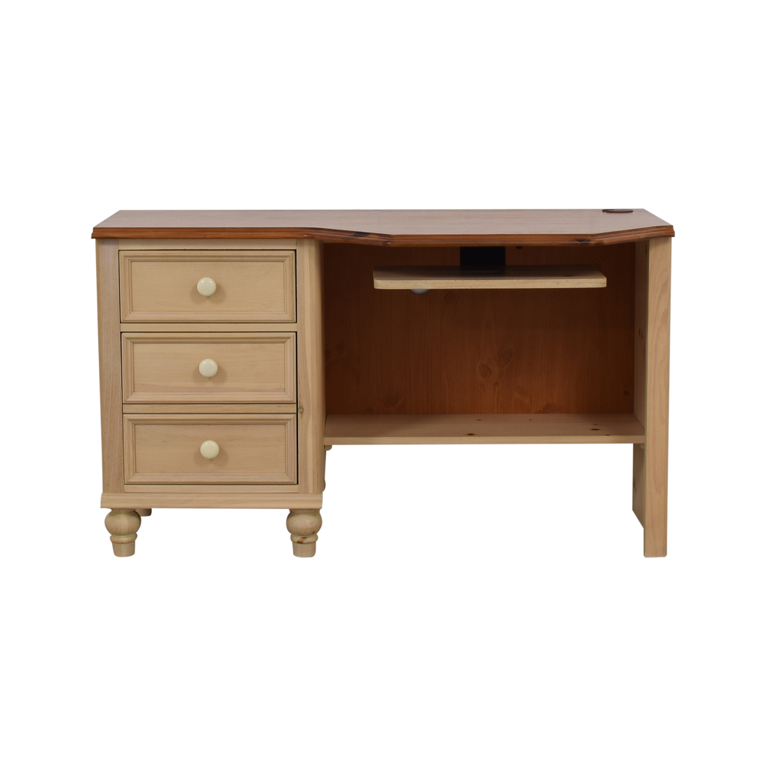 shop Broyhill Two Drawer Computer Desk with Keyboard Tray Broyhill