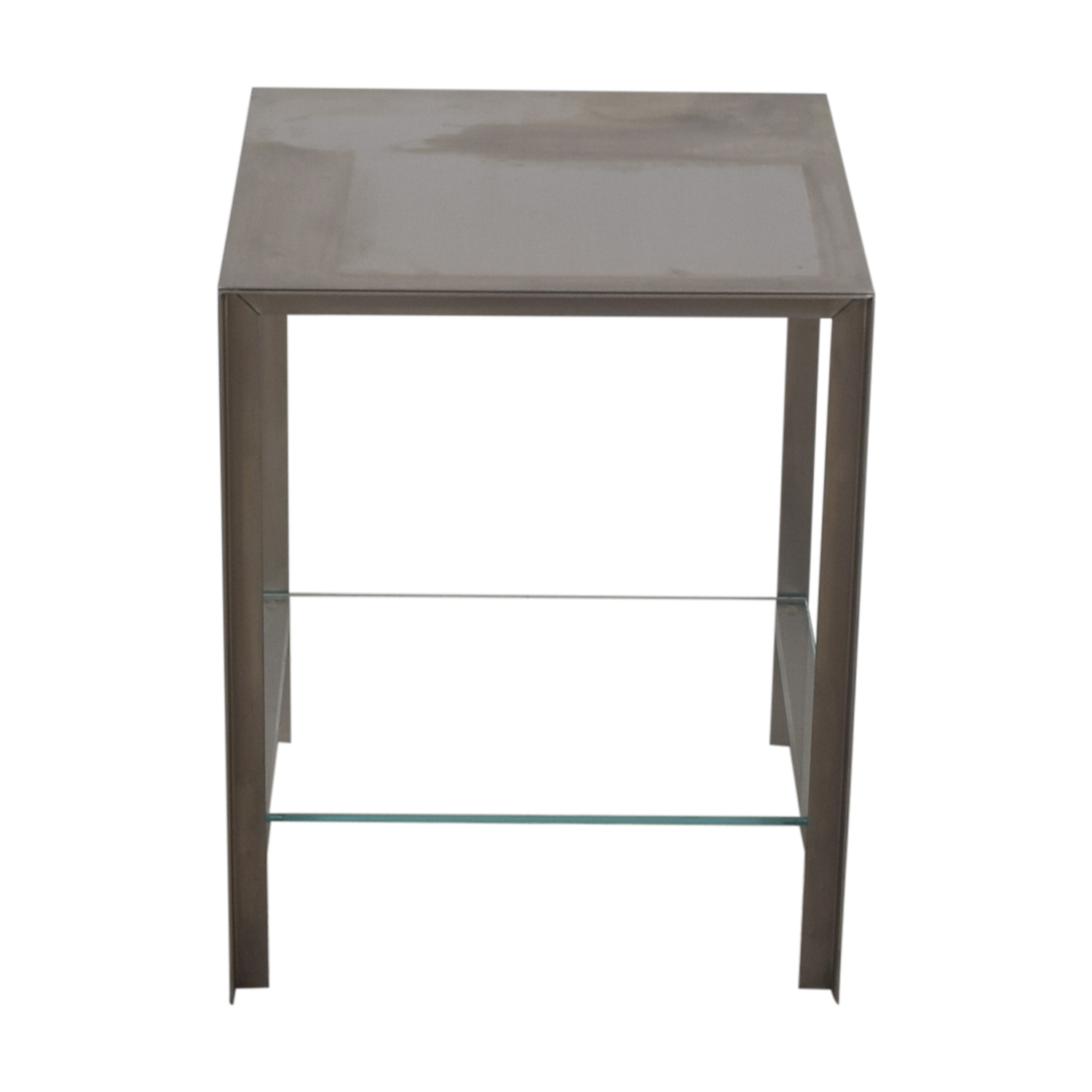 buy Desiron Chrome and Glass Square Console Desiron Sofas