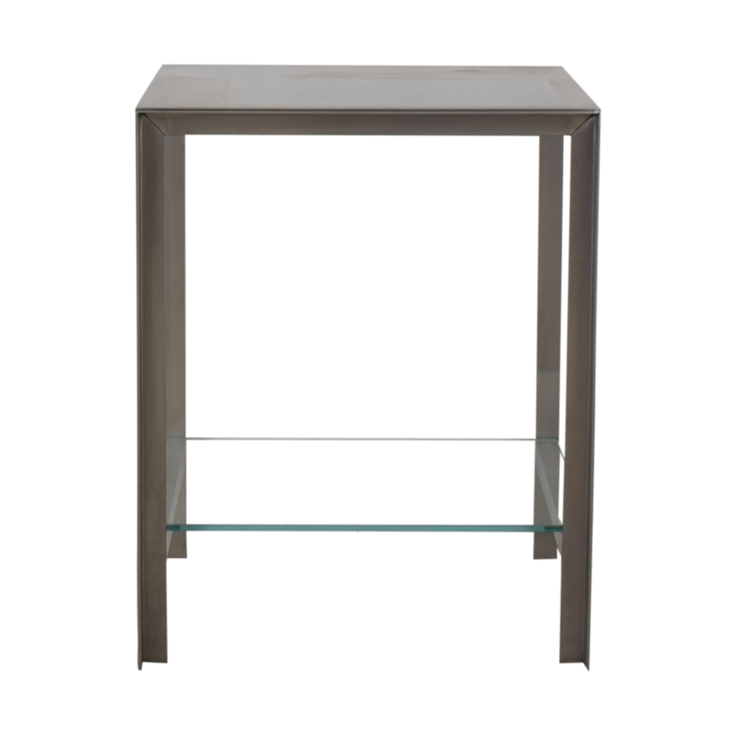 Desiron Desiron Chrome and Glass Square Console