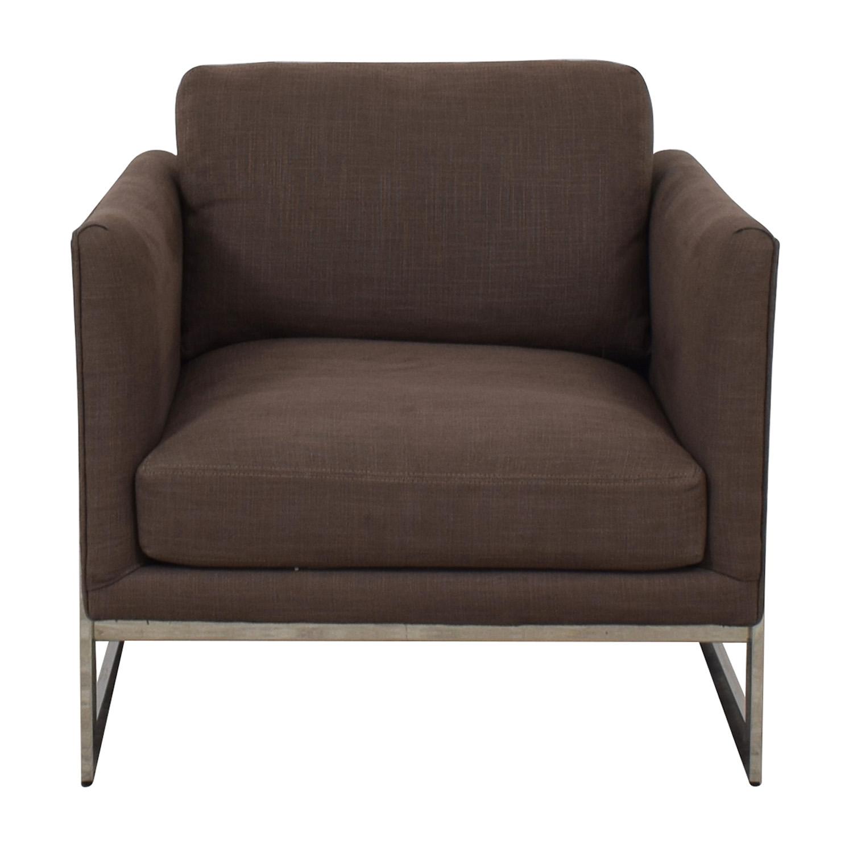 Thayer Coggin Milo Baughman Thayer Coggin Brown Accent Chair second hand