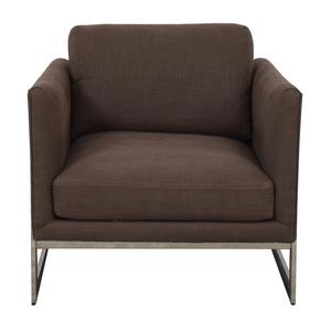 Thayer Coggin Milo Baughman Thayer Coggin Brown Accent Chair