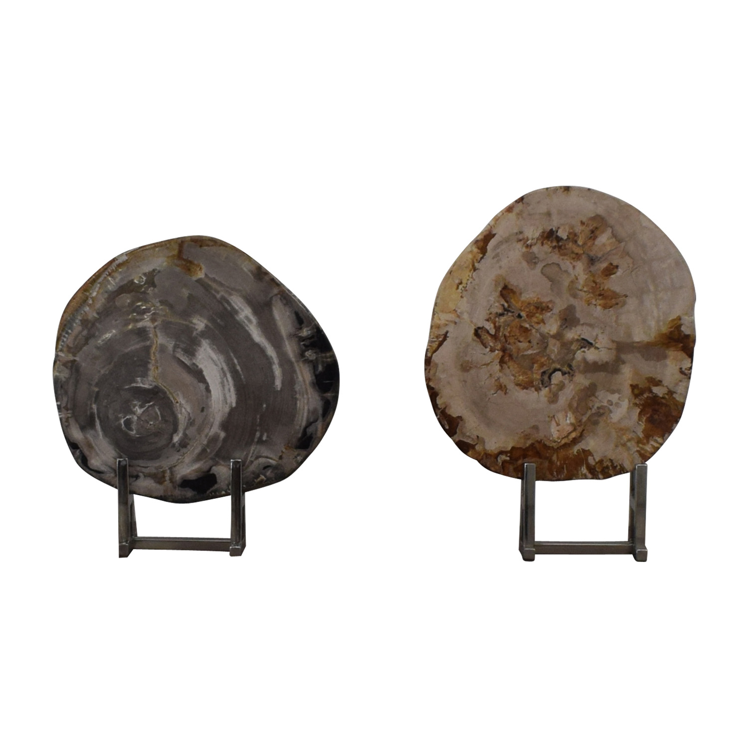buy Adrianna Shamaris Stone Objects in Chrome Stands  Decor