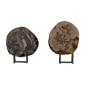 Adrianna Shamaris Stone Objects in Chrome Stands / Decor