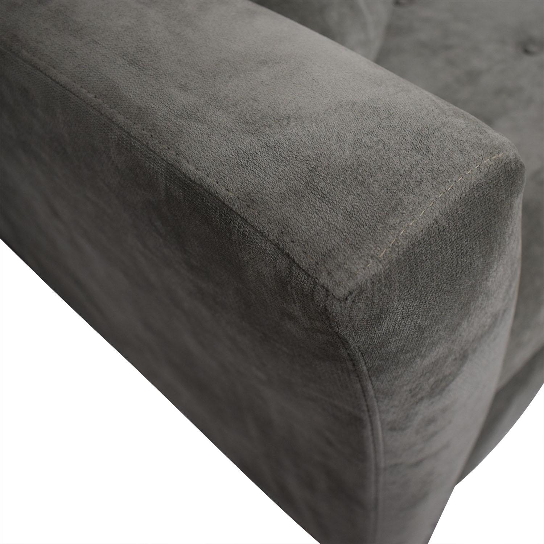buy Jonathan Louis Tufted Grey Microfiber L-Shaped Sectional Jonathan Louis Sofas