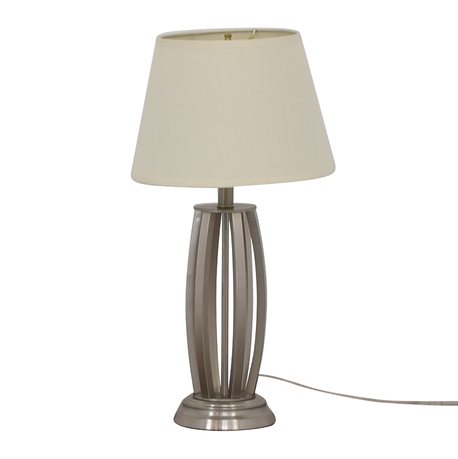 Chrome Table Lamp used