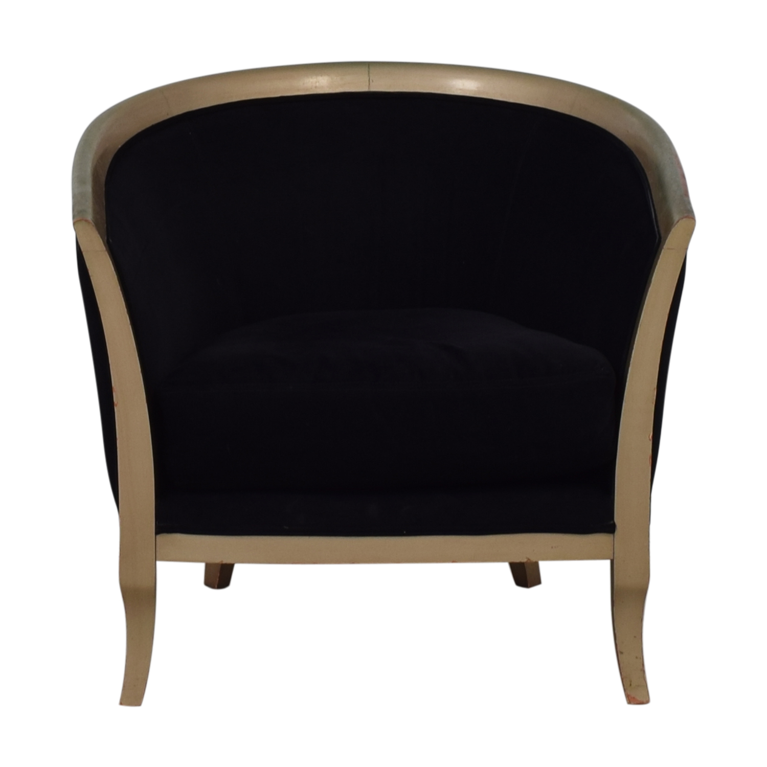 Black Deco Accent Chair dimensions