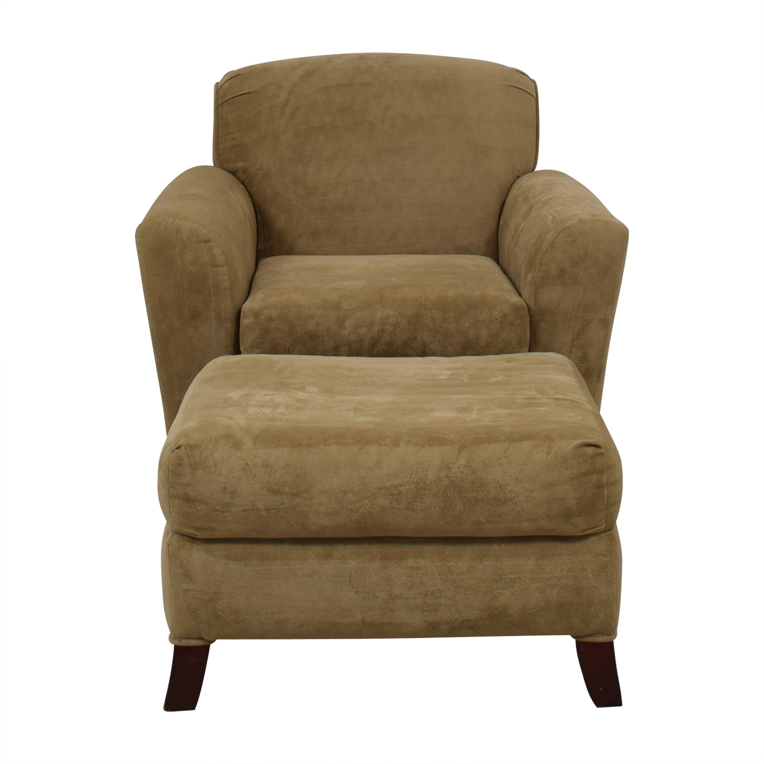 Bassett Furniture Bassett Beige Chair and Ottoman BEIGE