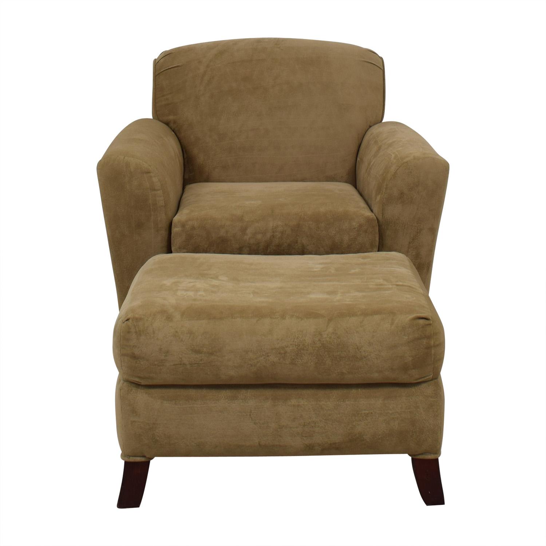 Bassett Bassett Beige Chair and Ottoman dimensions