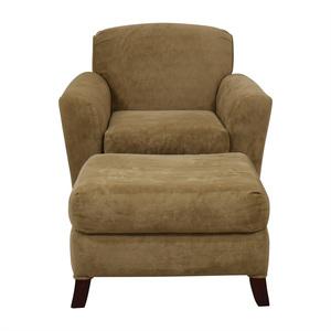 Bassett Beige Chair and Ottoman Bassett Furniture