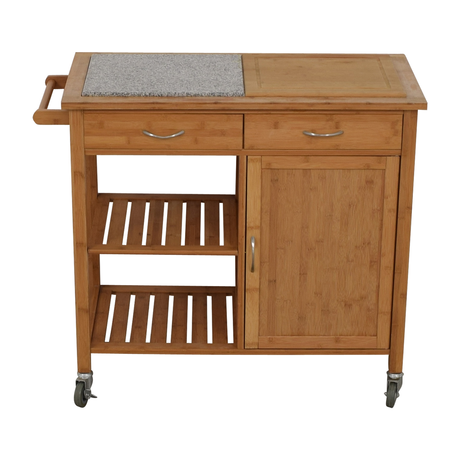shop IKEA Natural Kitchen Island on Castors IKEA Storage