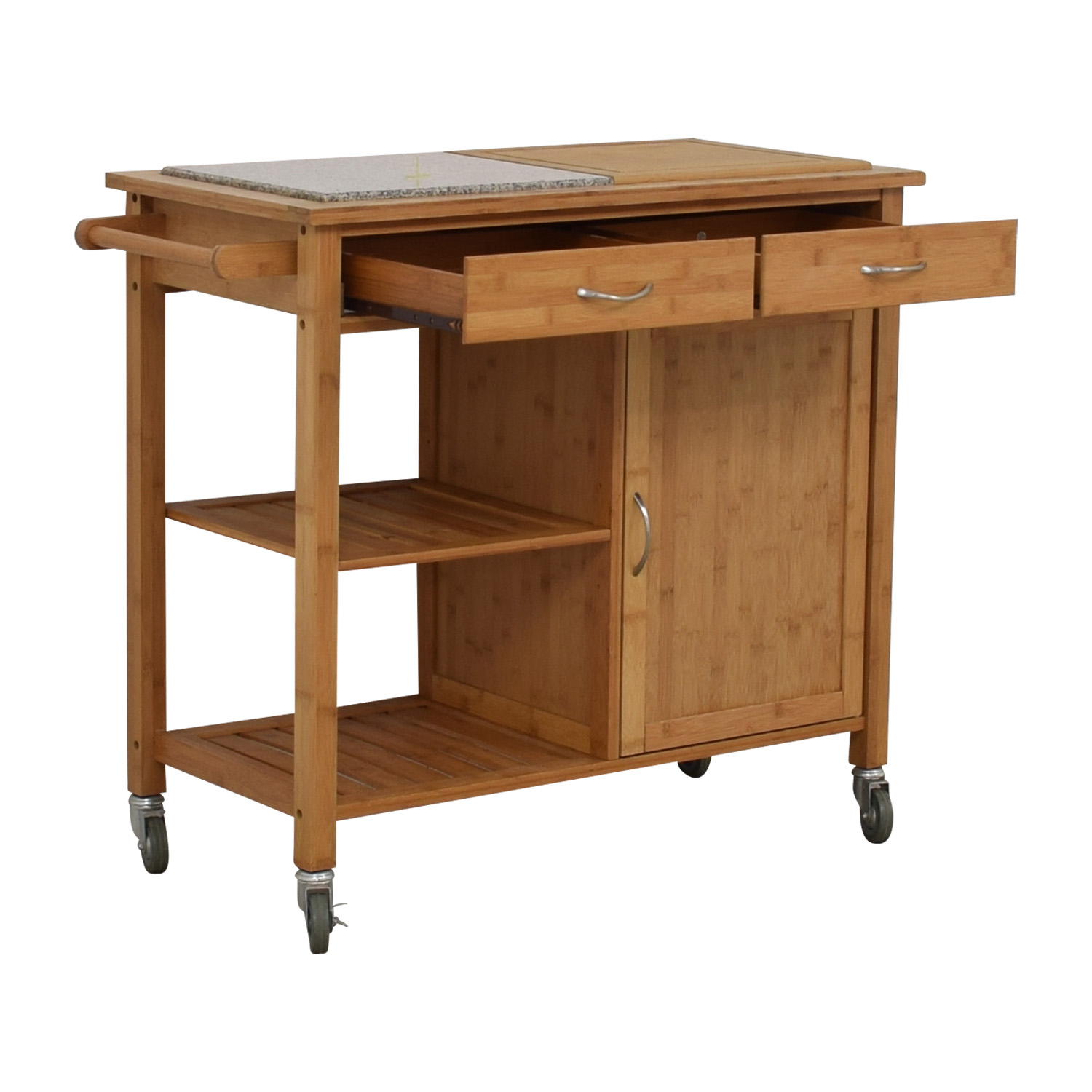 IKEA Natural Kitchen Island on Castors / Storage