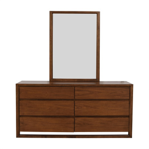 shop Raymour & Flanigan Aversa Six-Drawer Dresser with Mirror Raymour & Flanigan