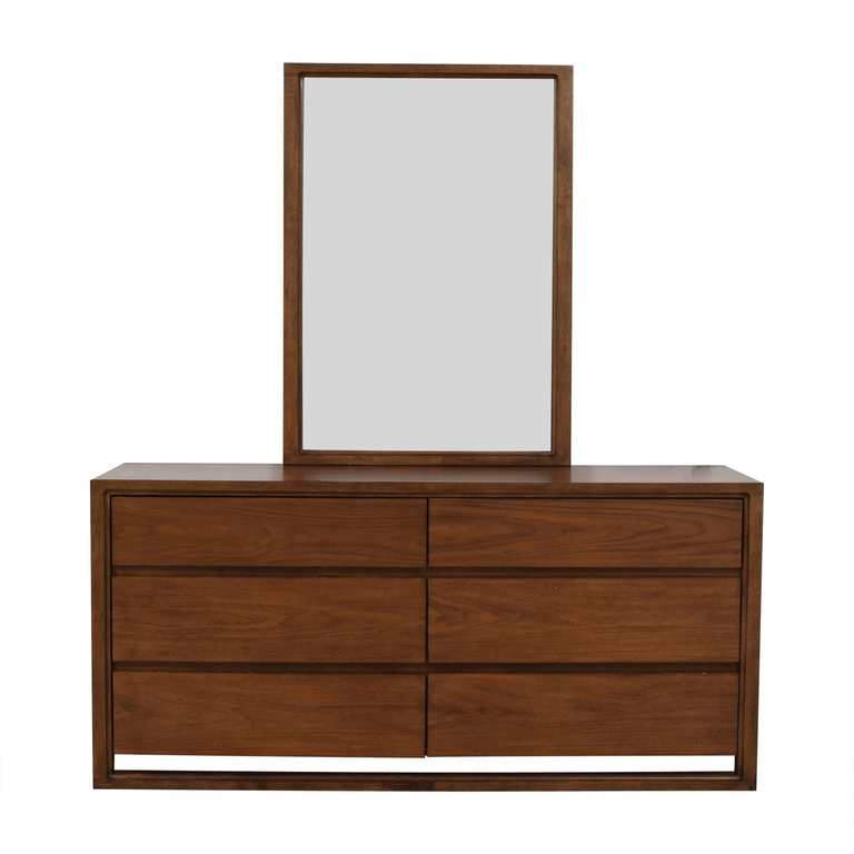 Raymour & Flanigan Raymour & Flanigan Aversa Six-Drawer Dresser with Mirror discount